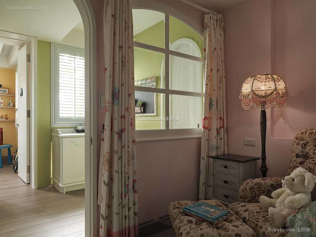 田园家庭设计窗帘欣赏大全