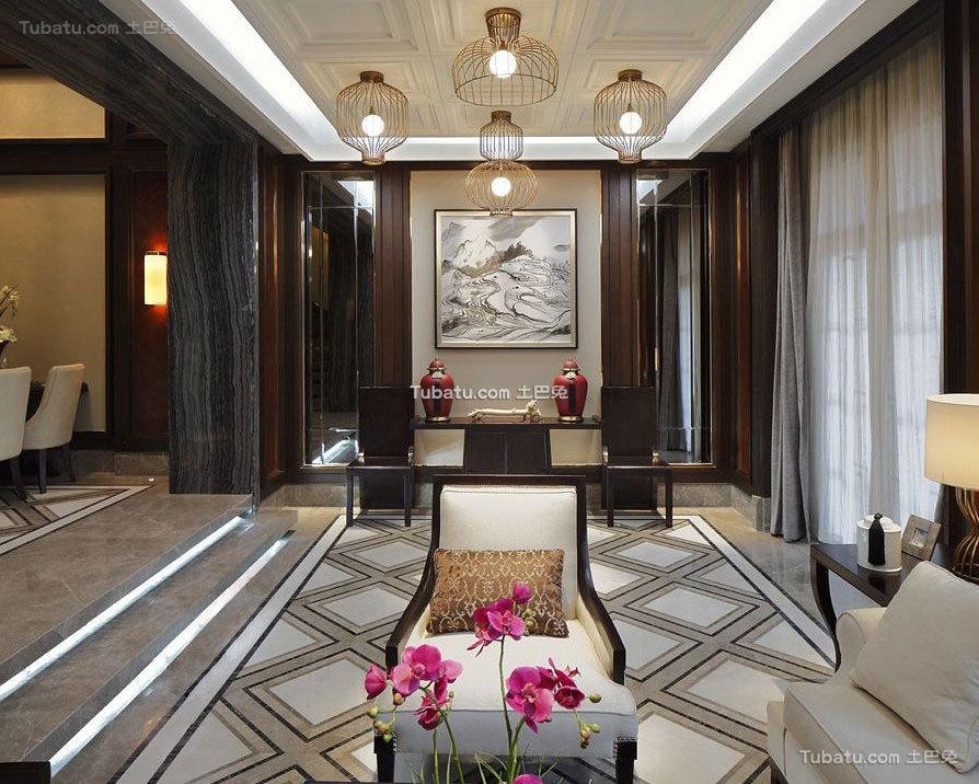 典雅新中式客厅设计装饰案例