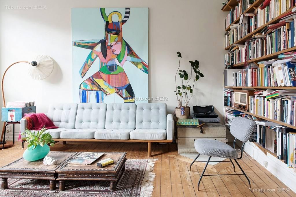 混搭北欧风格客厅装饰设计