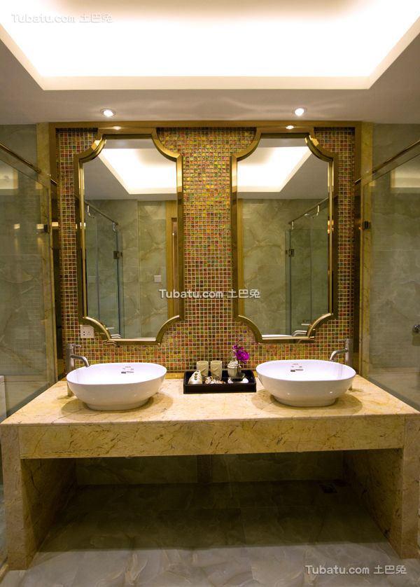 东南亚卫生间洗脸盆欣赏