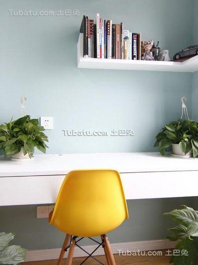 简约温馨小户型室内书房设计效果图