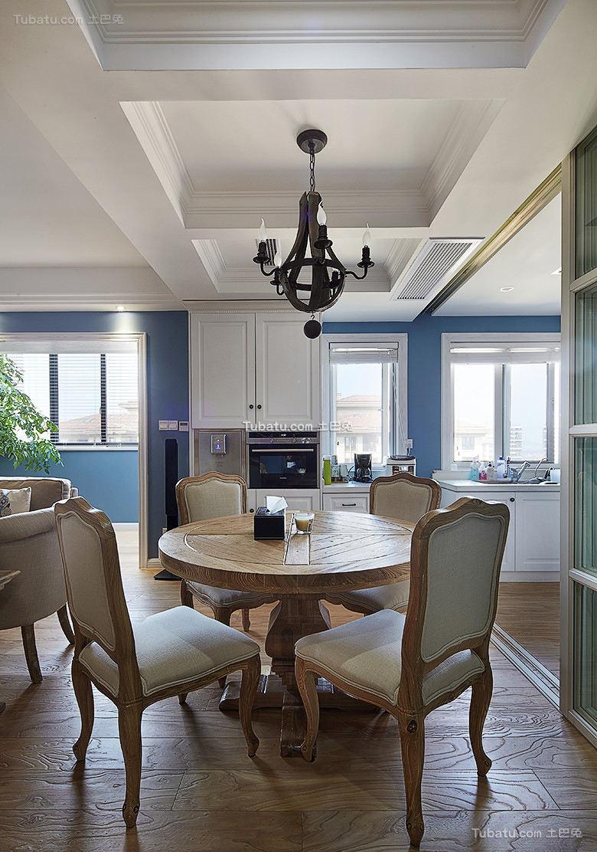 美式风格复式室内餐厅装修效果图片