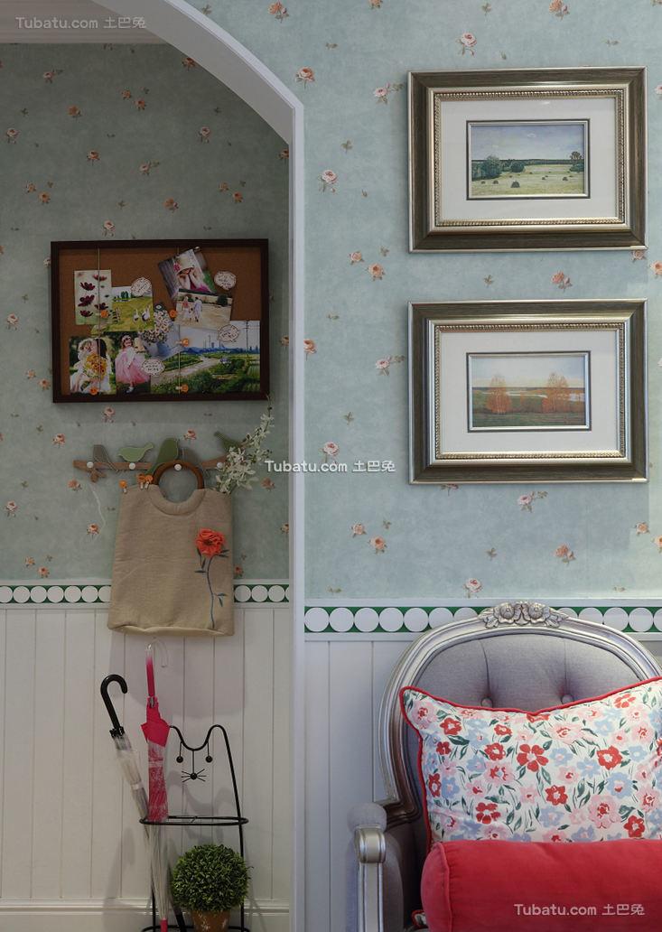 田园风格照片墙室内设计装饰效果图