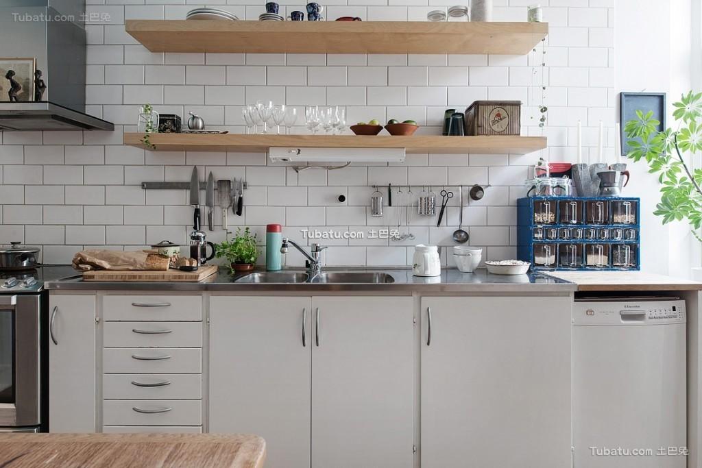 简约北欧风格厨房装潢设计