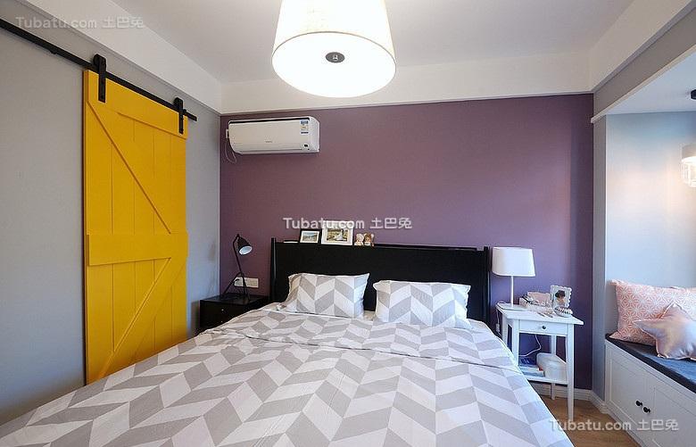 北欧混搭宜家风格卧室设计