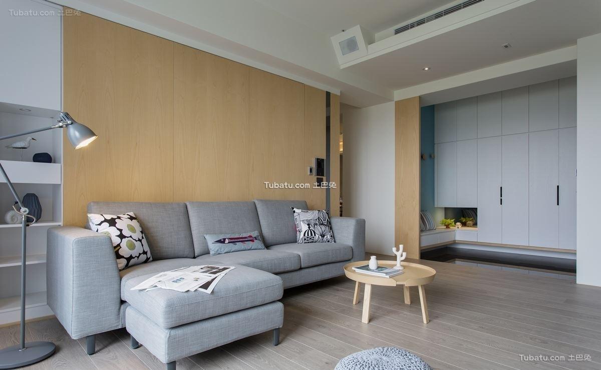 简洁时尚北欧风格客厅设计