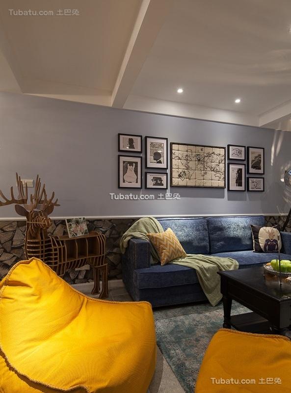 美式风格家装设计三居室效果图片