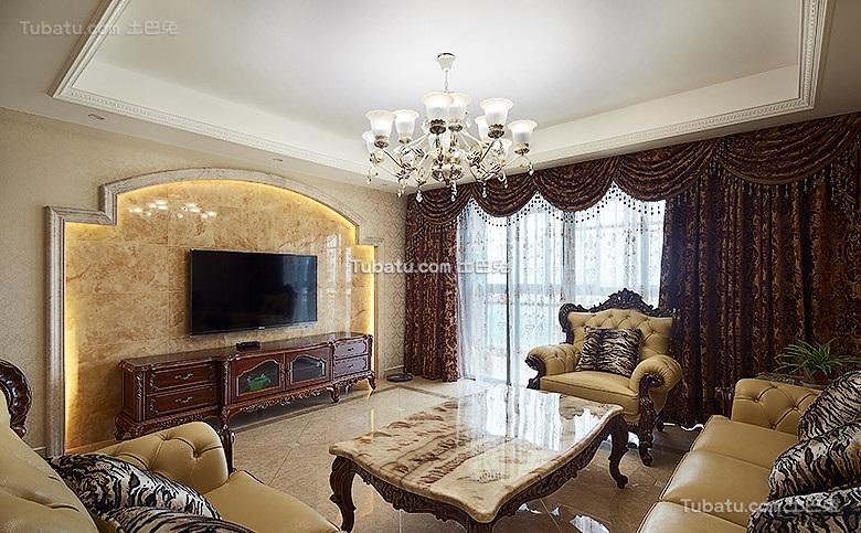 精致古典欧式客厅设计