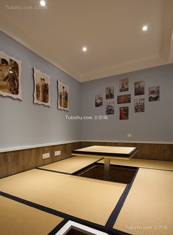 美式风格家装设计室内榻榻米效果图片