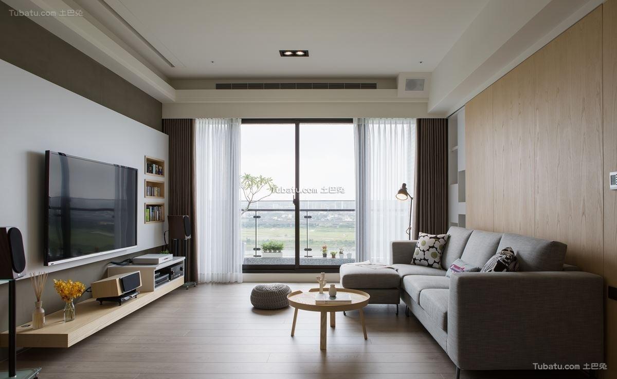 北欧原木风格客厅设计