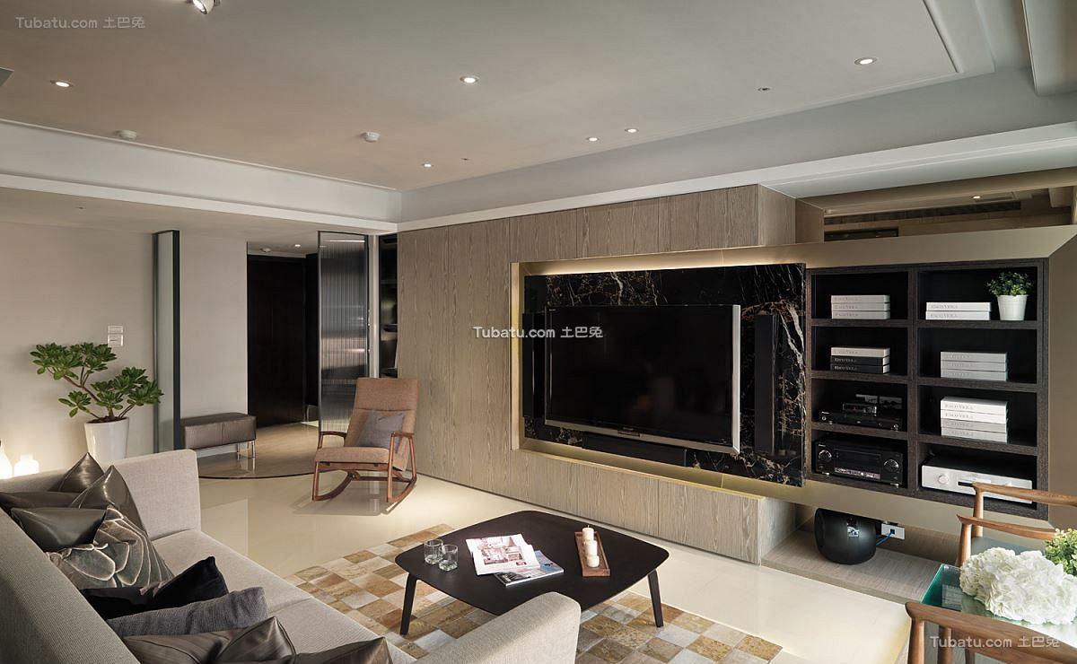 现代简约美式装修客厅设计