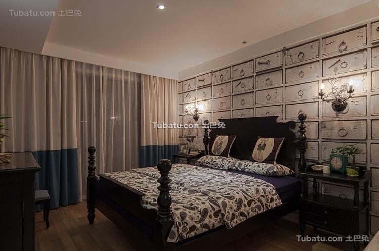 美式风格家装设计卧室效果图片
