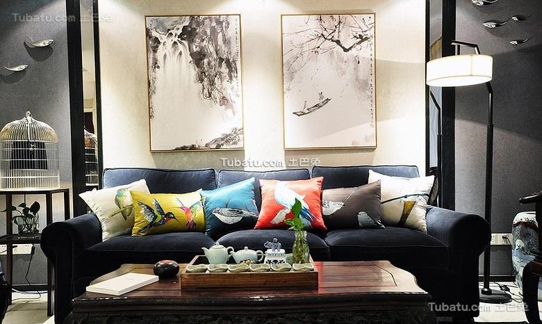 现代创意中式客厅装饰案例