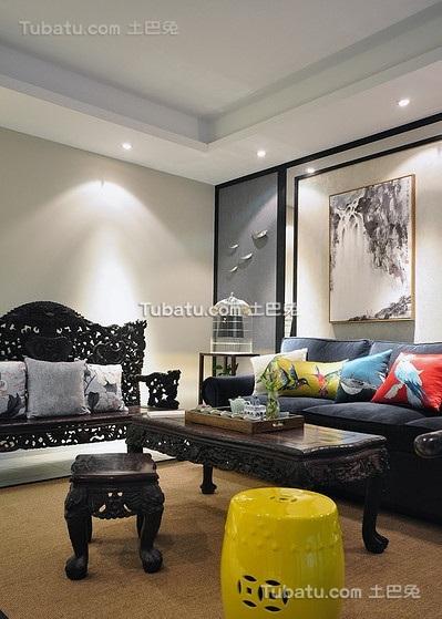现代创意中式客厅装饰