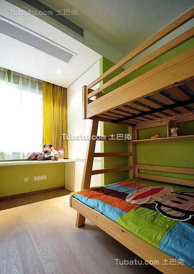 现代绿色儿童房家装案例