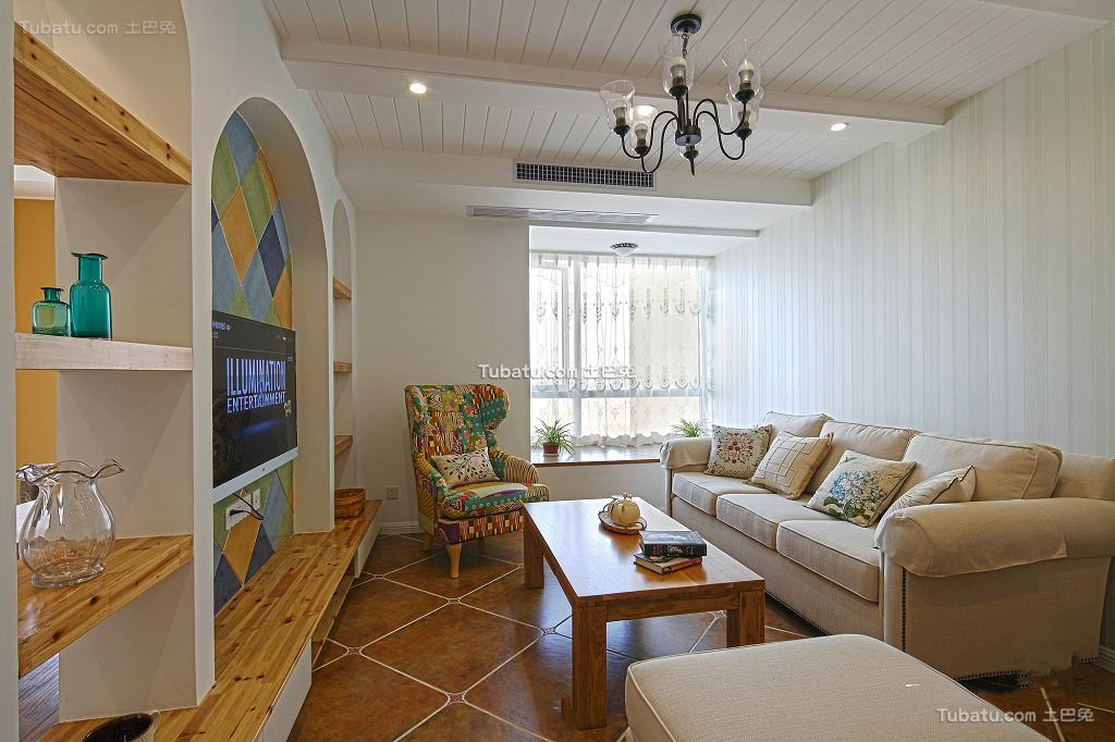 地中海装修设计三室两厅欣赏大全