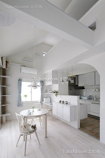 纯白简约北欧餐厨房设计