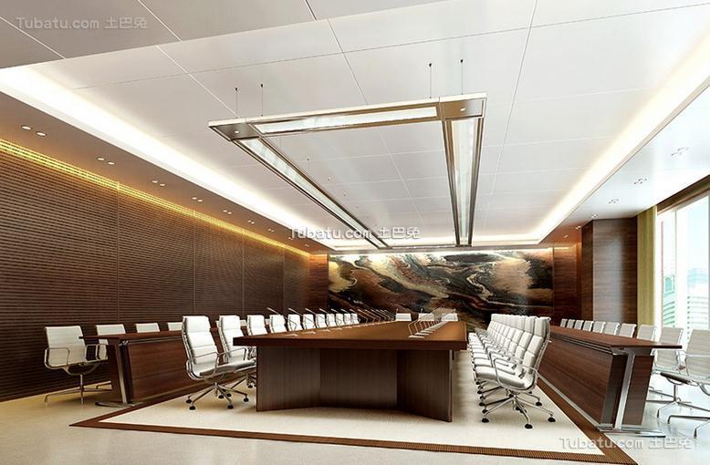 高级办公室会议室室内效果图