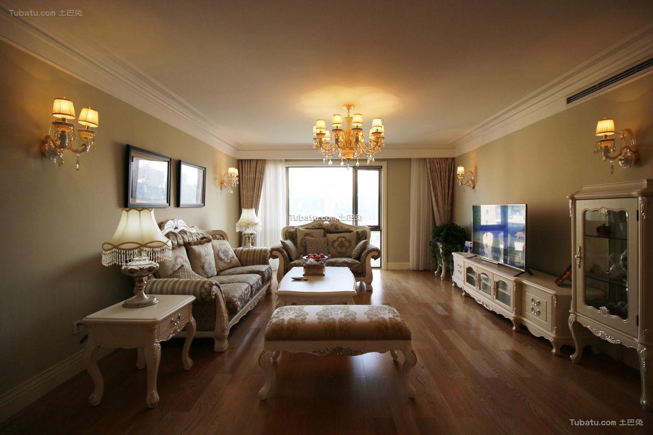 华贵简欧风格客厅设计