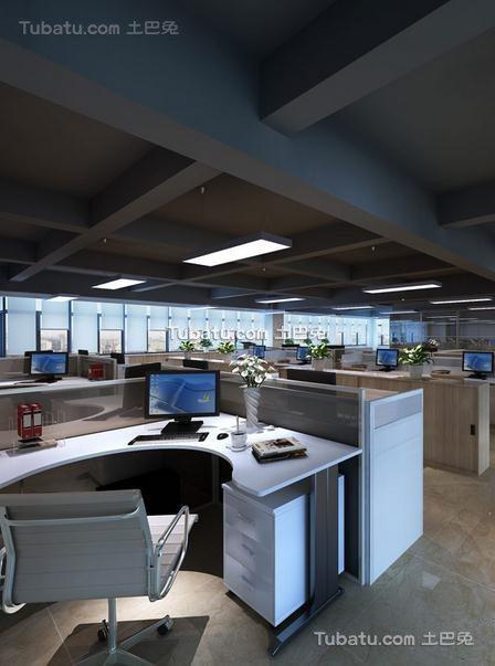 现代高级办公室设计室内效果图
