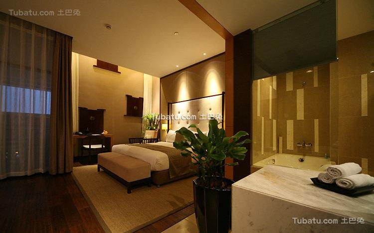 酒店设计室内卧房装潢图片