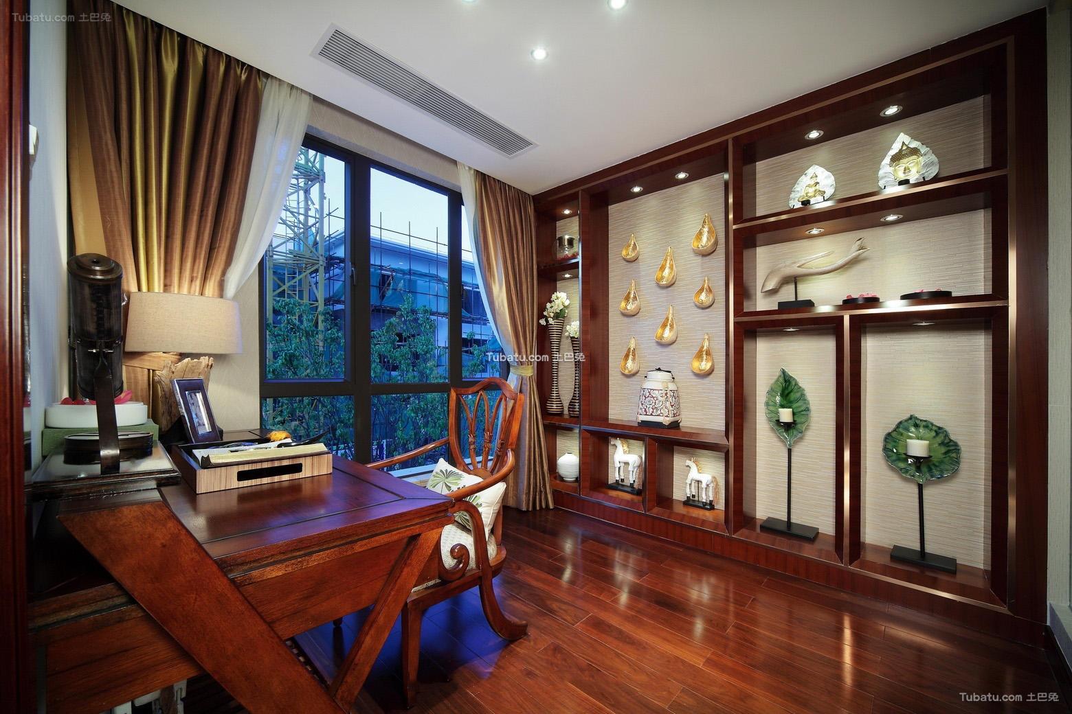 东南亚设计书房窗帘效果图大全