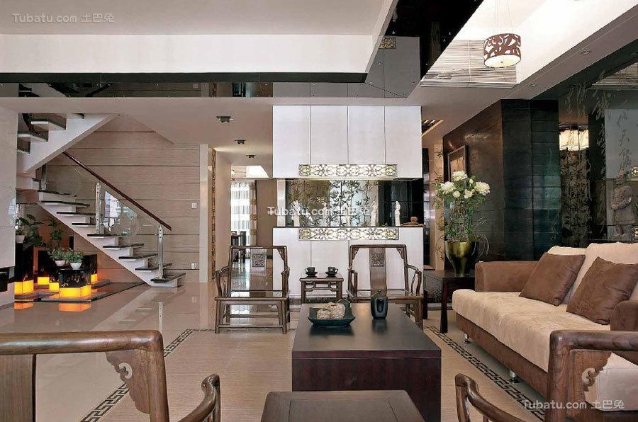 150平新中式复式家装案例