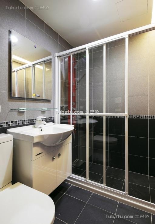 简约现代家居卫生间设计装修效果图