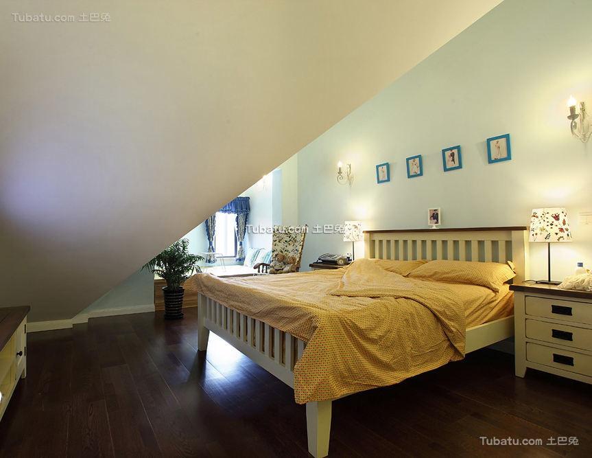 家居设计美式卧室效果图