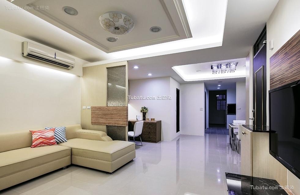 简约现代二居室设计装修效果图