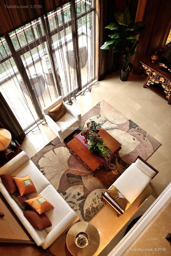 东南亚风格设计别墅室内装饰效果图