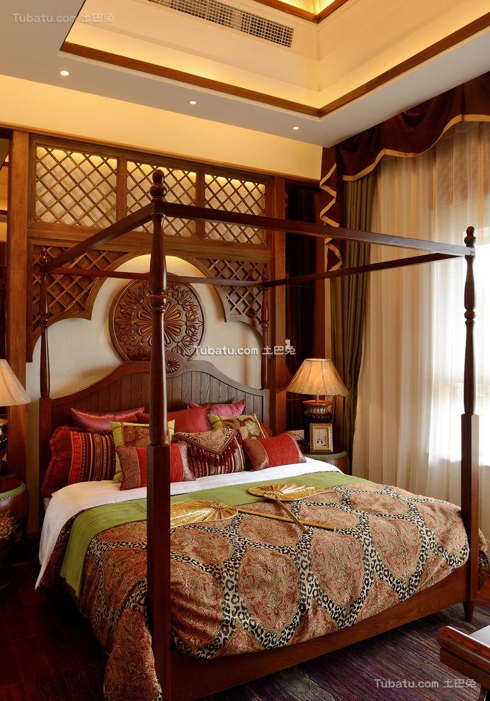 东南亚风格卧室室内装饰效果图