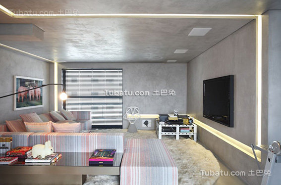 简约工业风格客厅设计