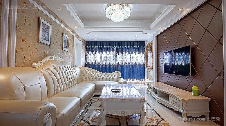 简欧华美客厅装饰设计
