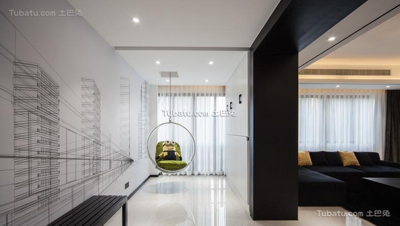 极简风格设计公寓室内装修图片