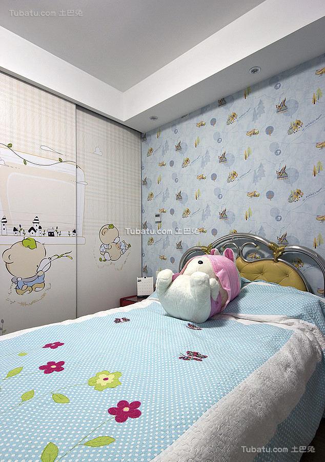 美式简约儿童房设计室内效果图