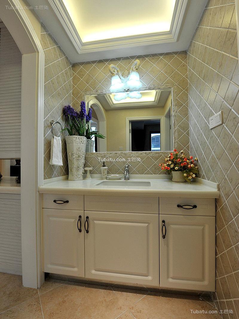 简欧田园设计卫生间洗手盆欣赏