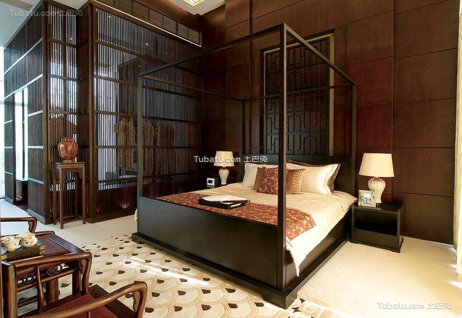 豪华新中式卧室设计