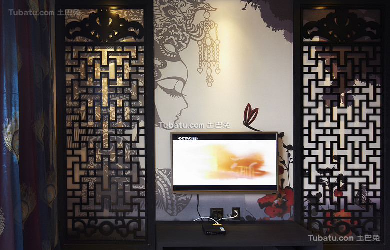 古典中式背景墙装饰设计