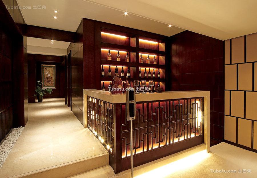 现代豪华中式家居吧台设计