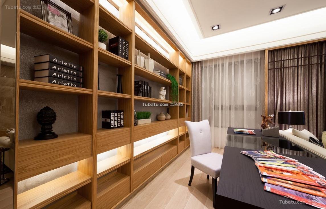 日式风格室内书房装饰设计效果图