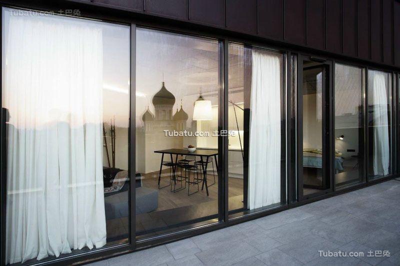简约设计现代公寓窗户装饰效果图