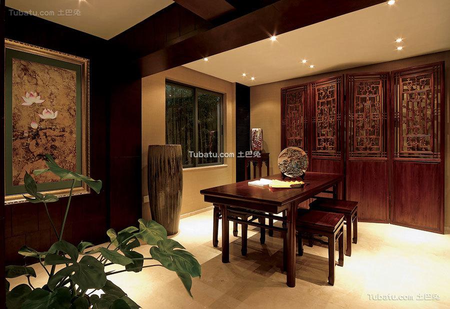 古典中式家居茶室客人接待室设计
