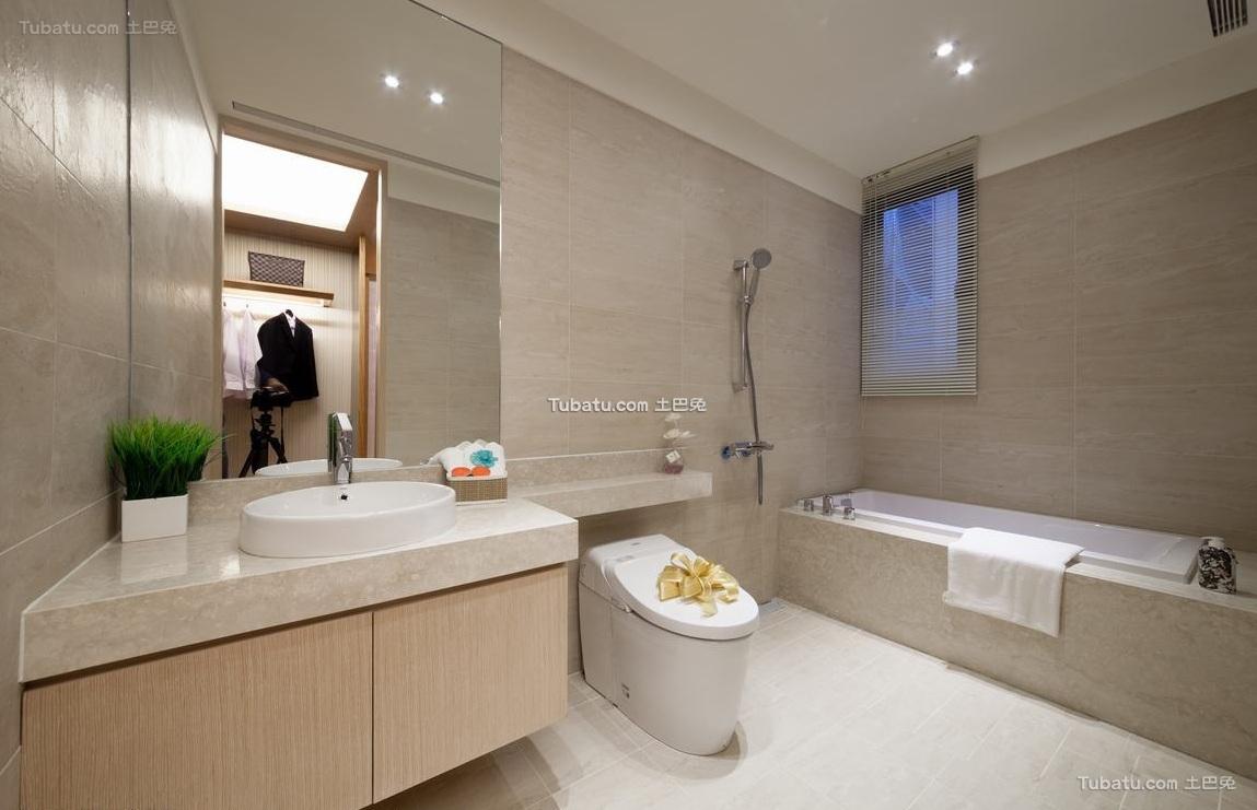 现代风格卫生间家装设计图片欣赏