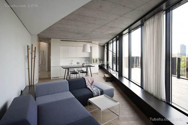 简约设计客厅吊顶装饰效果图