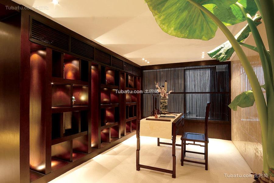 现代豪华中式书房设计