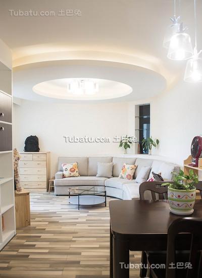 80平现代二居室装修设计效果图