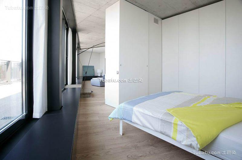 简约设计现代公寓卧室效果图