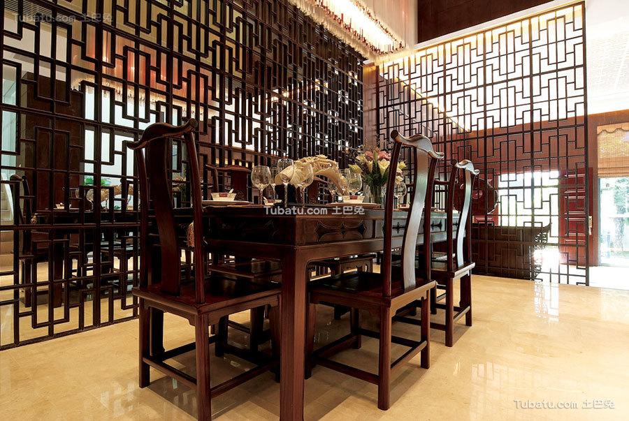 中式古典家居餐厅设计装潢