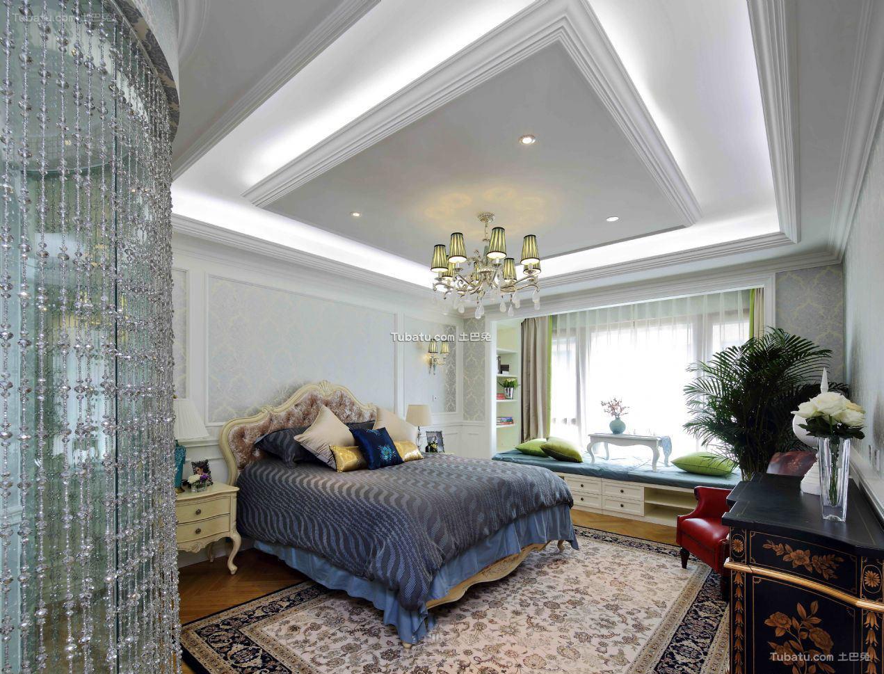 欧式装修设计卧室吊顶欣赏
